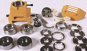 Составные элементы модуля пробивки крупного диаметра